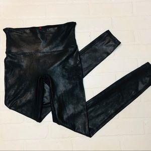 SPANX Faux Leather Leggings Black Size Medium